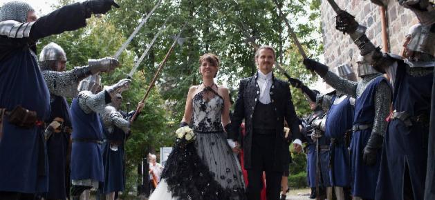 Rittergasse für das Hochzeitspaar