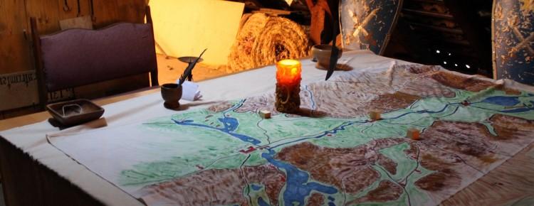 Karte mittelalterliche Umgebung